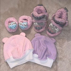 Other - Set of Slippers and Beanie with Bear Ears